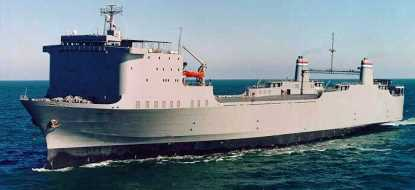 MV <em>Cape Rise</em>, a Roll-on/Roll-off ship that is part of the Ready Reserve Force.